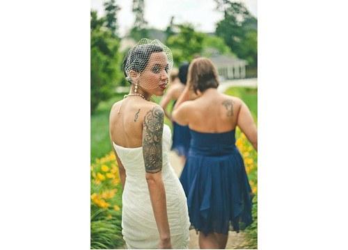 Svatební závoj bílí birdcage síťka