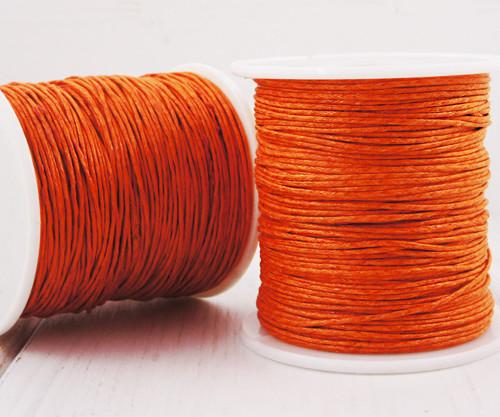 18.3 m 60ft 20yrd Oranžové Červené Voskované Bavln