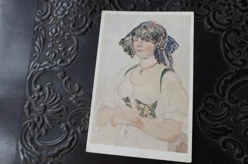 Žena z vysočiny... pohlednice, J. Mánes