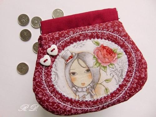 Dívka s kloboučkem II ... kapsička, mincovka