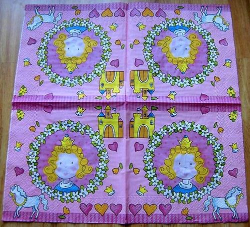 DE 088 - ubrousek 33x33 -princezna s koníkem