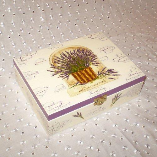 Levandule v košíčku - krabička na čaj