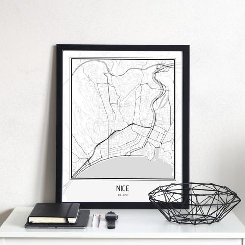 Plakát - mapa Nice