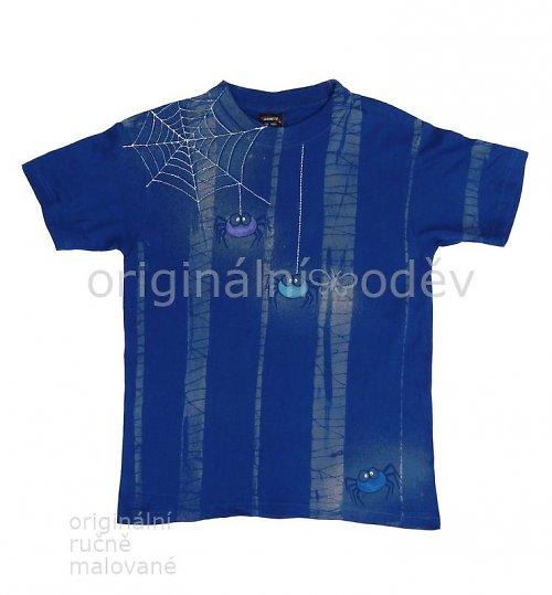 Malované tričko dětské - pavoučci