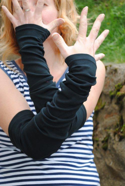 Nátepko-rukávky černé