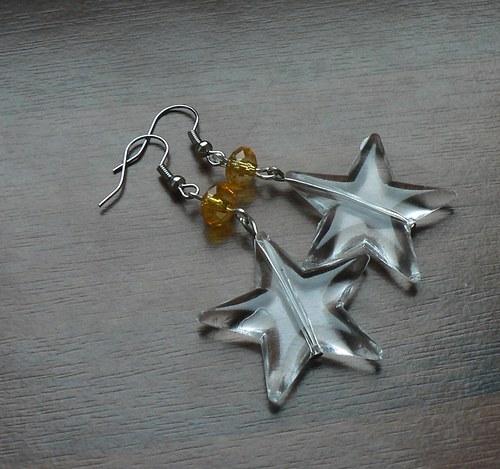 Vánoční náušnice - hvězdy