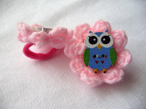 Gumičky-růžové s kytičkou a sovičkou
