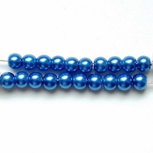 Akrylové perličky modré  10 ks