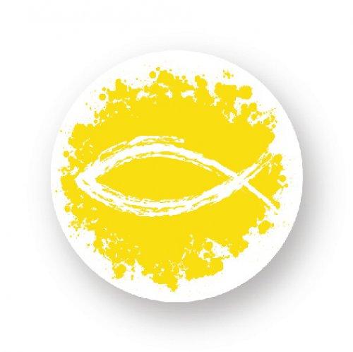 Placka sprej rybka - žlutá