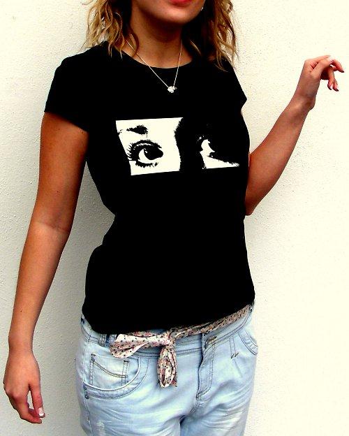 Dámské tričko,,Black and white,,