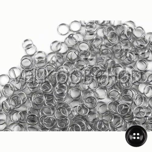 Dvojité kroužky pr.6 mm (500 ks) - platina