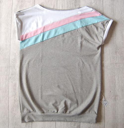 Dámské tričko šedé s mentolovou
