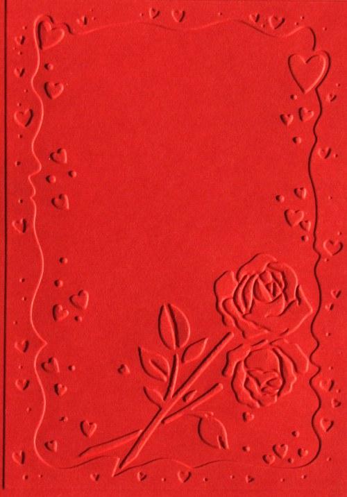 Orámování s růží - stránka A6 - barva podle přání