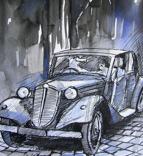 Akvarel, Tatra 75, Brno, Stará česká klasika 8)