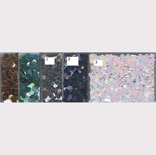 Flitry 5 mm  -mix 5 barev - bal. 5x5g
