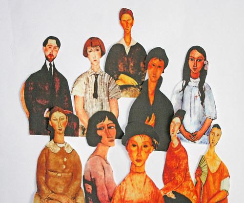Lidé 2 ks - nažehlovací obrázky