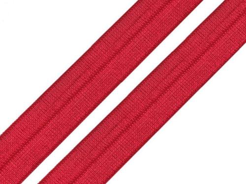Lemovací pruženka půlená 19mm - červená tmavá