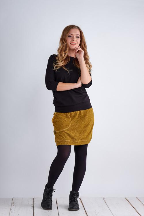 Skirt Warm Mustard Melange