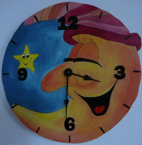 hodiny měsíc s čepicí