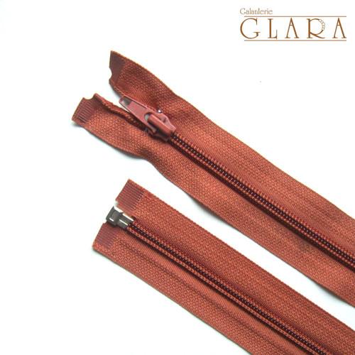 Zip spirálový / 75 cm / karamel č. 285 / 1 ks