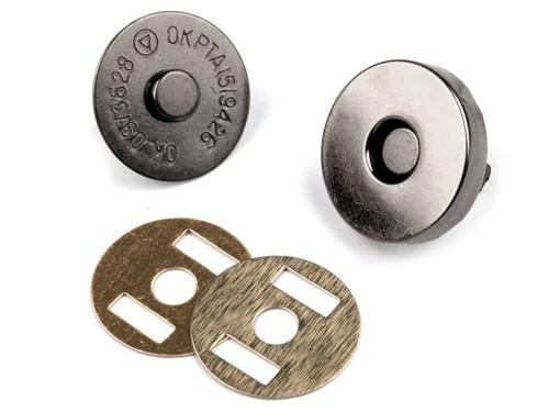 Magnetické zapínání Ø18mm (5sad) - antik