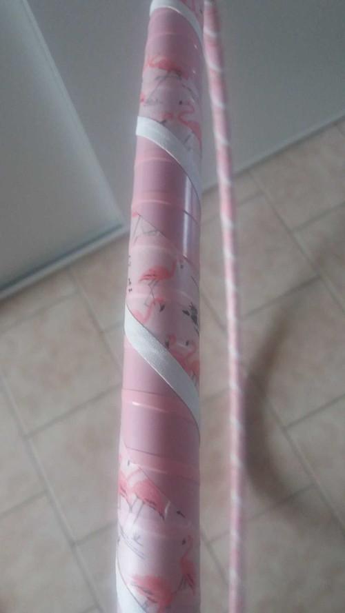 Obruč na hooping plameňáčci-růžová 80 cm SLEVA!