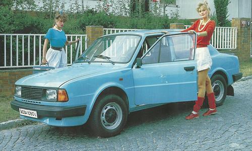 Panel 25x15cm Modrá vývozová Škoda 120