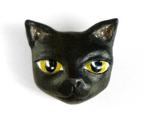 černá kočička lovci