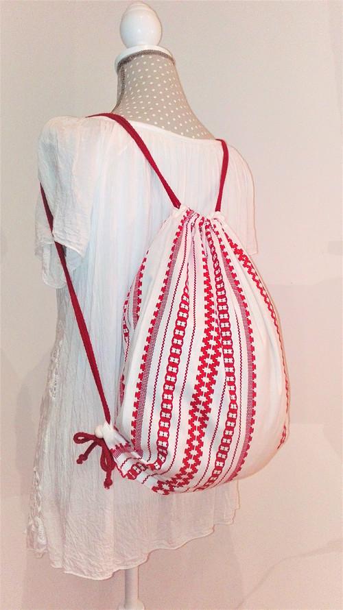 BackPack/Batoh/Vak - červeno - biely folk