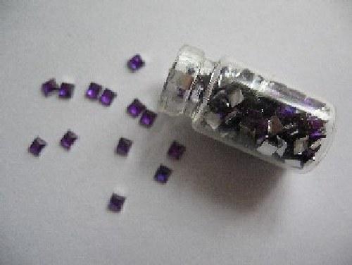 kamínky - fialové čtverečky