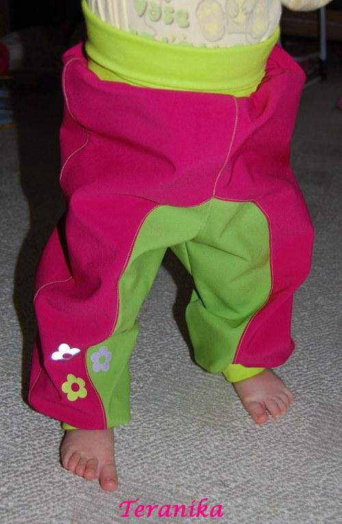 Softshellové kalhoty  vel.74/80 a 86/92