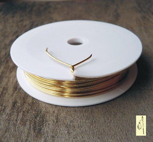Lakovaný zlatý biž. drát 0,18; cívka 20