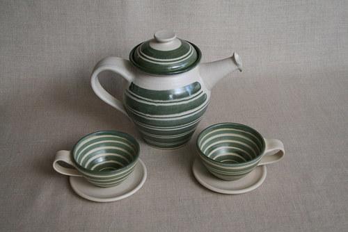 čajová souprava-zelená