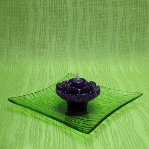 Svíčka plovoucí leknín fialový - levandule