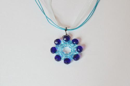 náhrdelník modrý květ