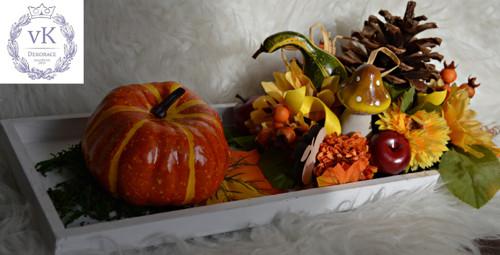podzimní tác s dýní