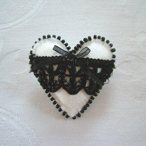 Černobílé srdce