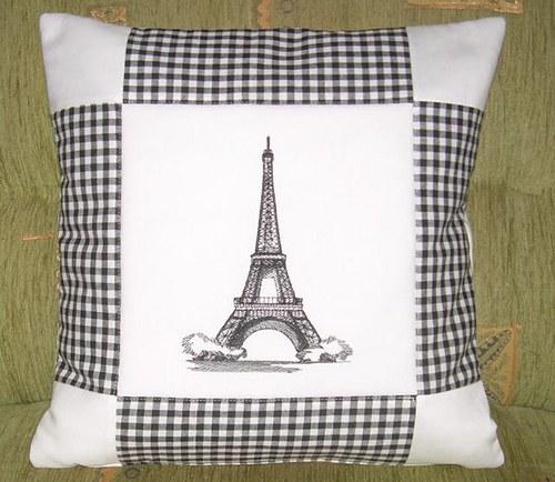 Povlak na polštář s Eiffelovkou