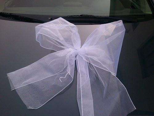 svatební mašle XXL - bílá