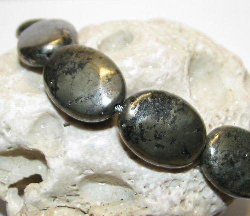177 Pyrit - ovál 20x15 mm