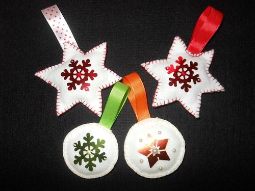 Vánoční ozdoby z plsťi