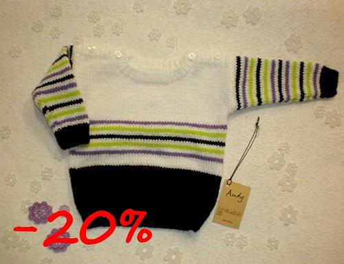 dětský pletený svetřík - barevné pruhy