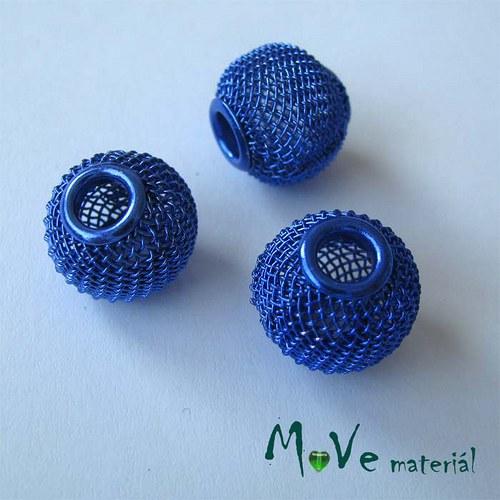 Korálek drátěný s šir. průvl. 1 kus, modrý