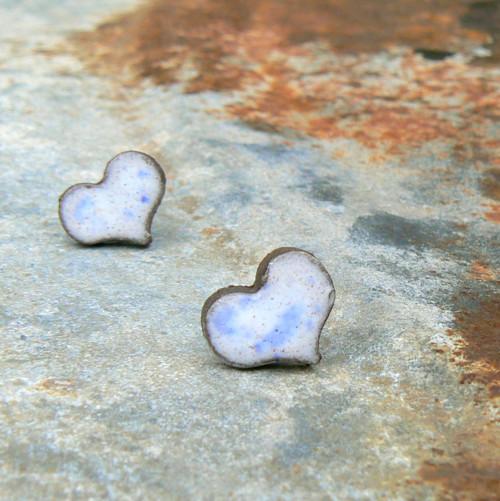 Srdíčka bílo-modrá
