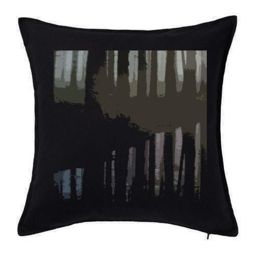 """Dekorační polštář ,,Forest"""" černý"""