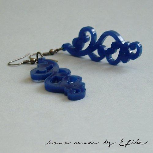 Modré ornamenty - SLEVA!