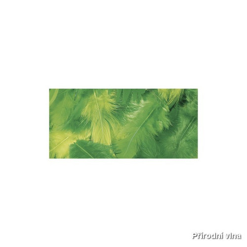 Směs barevných peří žluto-zelená 10 g