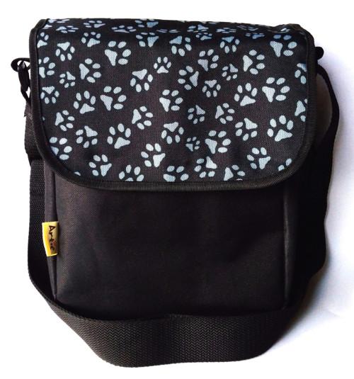 Velká taška 2K - šedé tlapky (kočárkovina)