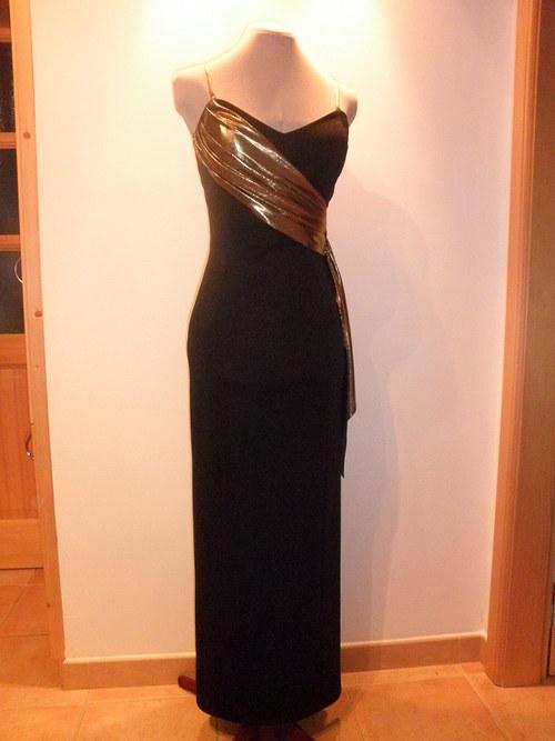 Černé dlouhé společenské šaty 42c-vel.36 a 38