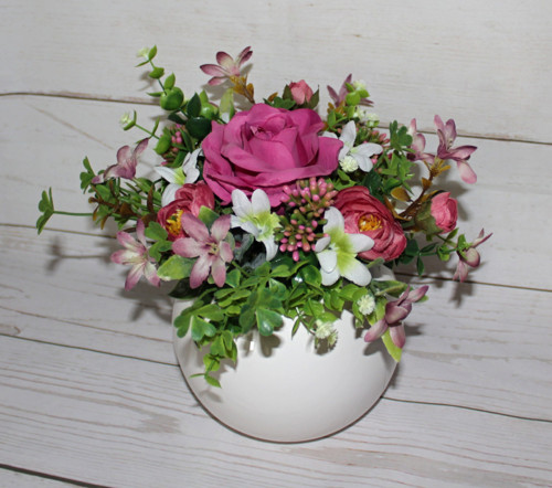 ♥ Květinové aranžmá růžové tony ♥